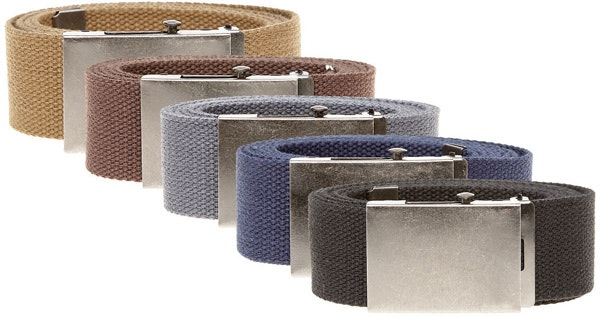 Duke Webbing Canvas Belt - Various Colours
