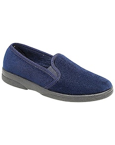 Sleepers Anthony IV Navy Twin Gusset Slipper