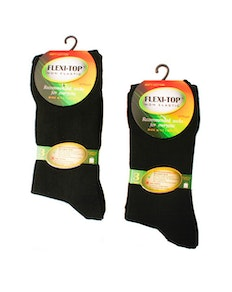 Flexi-Top Diabetic Socks Black