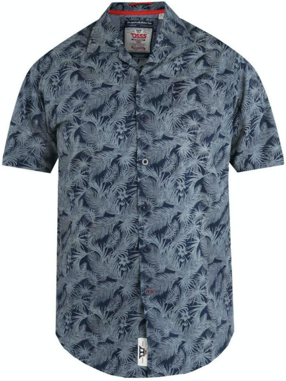 D555 Lance Hawaiian Print Shirt Navy