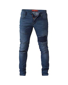 D555 Newport Tapered Fit Biker Jeans Tall