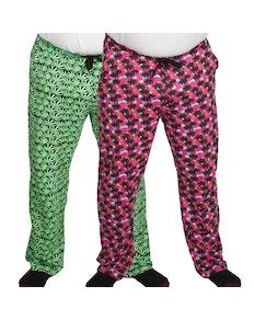 Bigdude Baggy Lounge Trousers Twin Pack Leaf/Palm