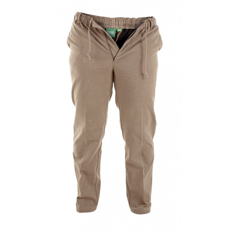 D555 Basilio Elastic Waist Rugby Trousers in Sand