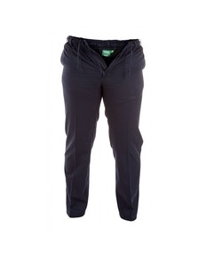 D555 Basilio Elastic Waist Rugby Trousers in Navy