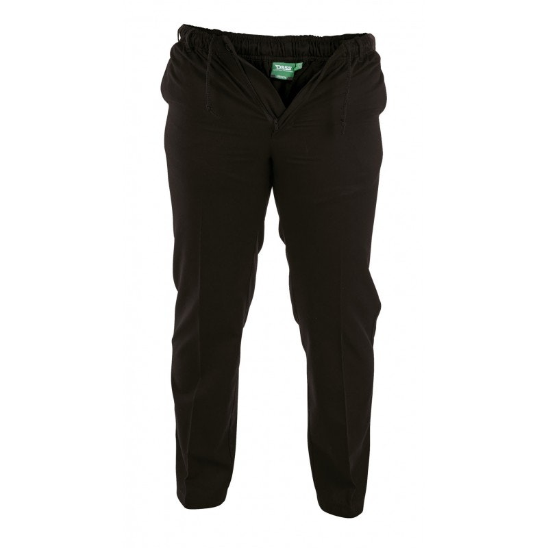 D555 Basilio Elastic Waist Rugby Trousers in Black