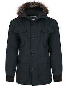 Bigdude Multi Pocket Parka Black