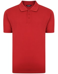 Bigdude Plain Polo Shirt Paper Red