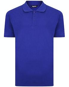 Bigdude Plain Polo Shirt Cobalt Blue Tall