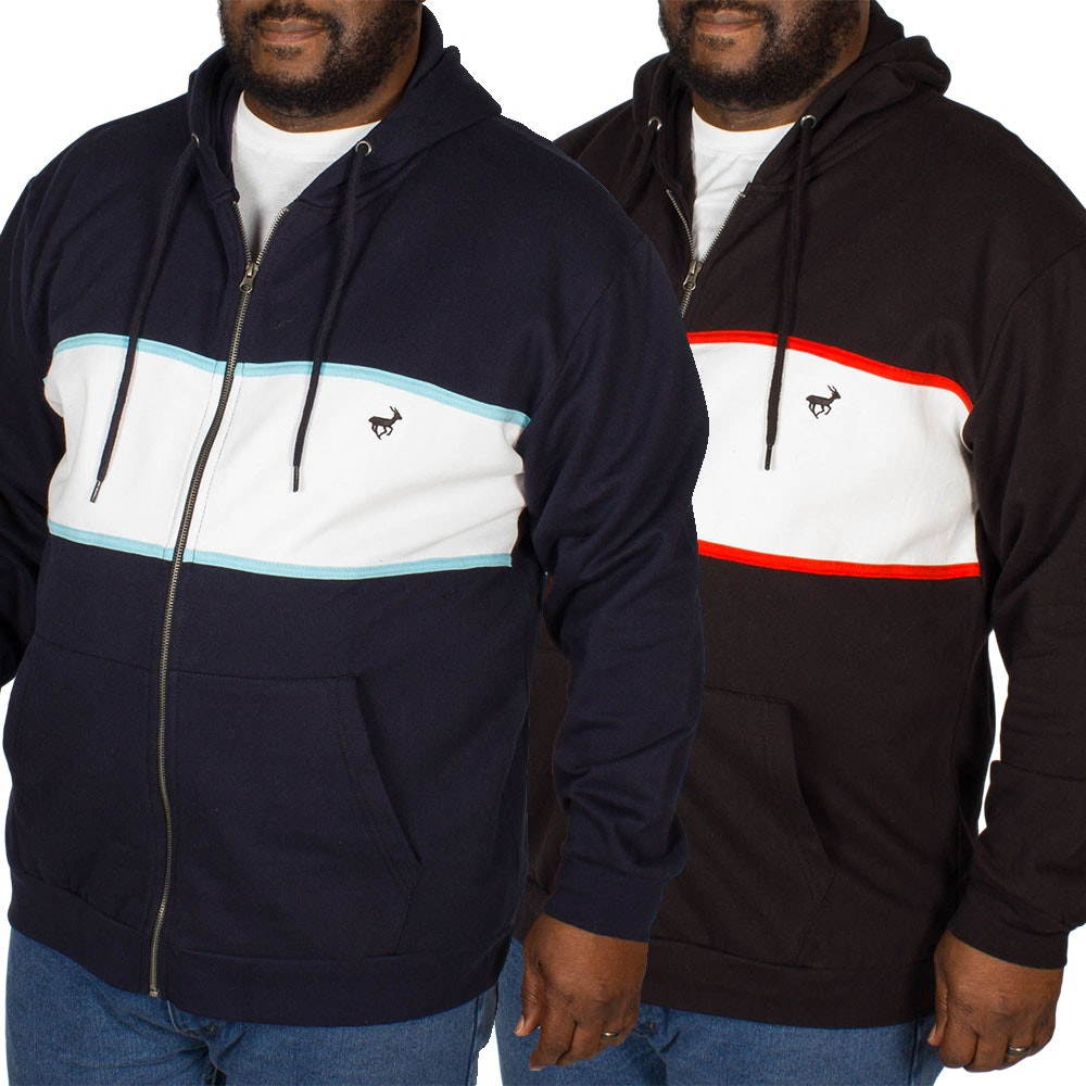 Bigdude Stripe Hoody Twin Pack Black/Navy
