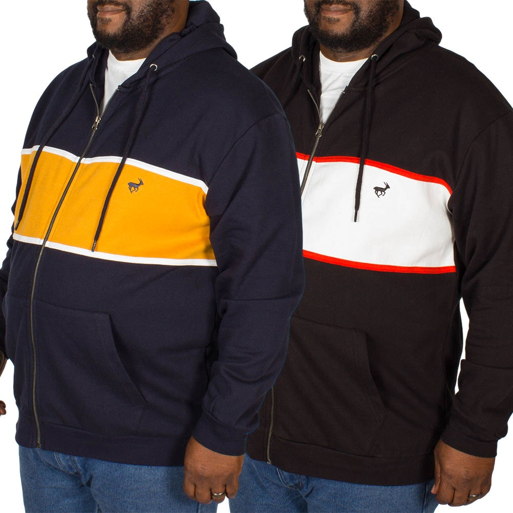 Bigdude Stripe Hoody Twin Pack Black/Yellow