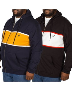 Bigdude Stripe Hoody Twin Pack Black/Yellow