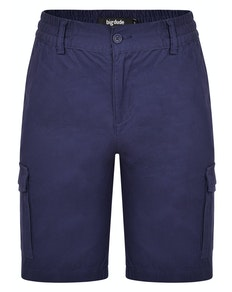 Bigdude Elasticated Waist Cargo Shorts Navy