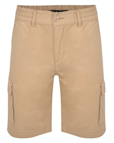 Bigdude Elasticated Waist Cargo Shorts Sand