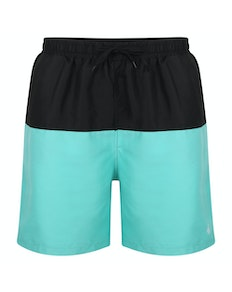 Bigdude Cut & Sew Swim Shorts Black/Turquoise