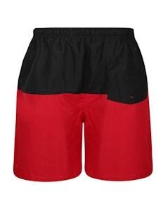 Bigdude Cut & Sew Swim Shorts Black/Red