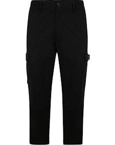 Bigdude Elasticated Waist Cargo Trousers Black