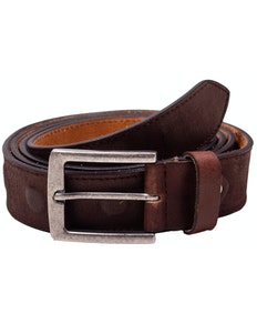 Jackson Embossed Leather Belt Brown