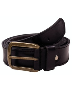 Ryan Used Look Leather Belt Black