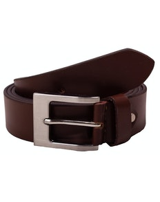Darren Plain Brown Leather Belt