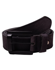 Liam Plain Black Leather Belt