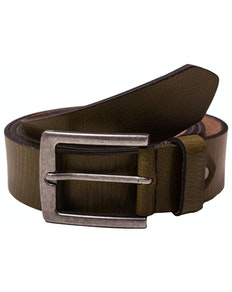 Carter Olive Green Leather Belt