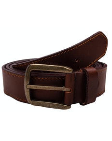 Wesley Leather Perforated Belt Brown