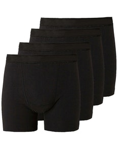 Bigdude 4 Pack Jersey Boxer Shorts Black