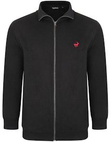 Bigdude Funnel Neck Full Zip Sweatshirt Black