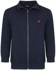 Bigdude Funnel Neck Full Zip Sweatshirt Navy