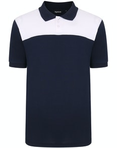 Bigdude Colour Block Polo Shirt Navy