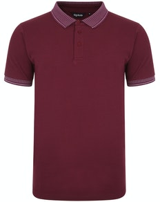 Bigdude Jacquard Collar Polo Shirt Burgundy