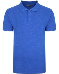 Bigdude Inkjet Marl Polo Shirt Royal Blue