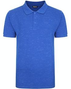 Bigdude Inkjet Marl Polo Shirt Royal Blue Tall