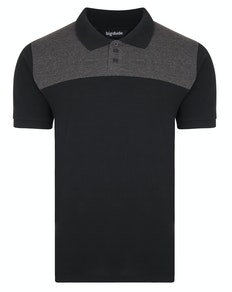 Bigdude Colour Block Polo Shirt Black