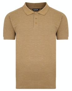 Bigdude Inkjet Marl Polo Shirt Khaki