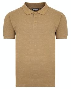 Bigdude Inkjet Marl Polo Shirt Khaki Tall