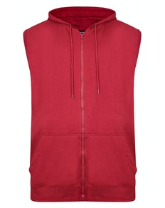 Bigdude Loop Back Sleeveless Hoody Burgundy Tall