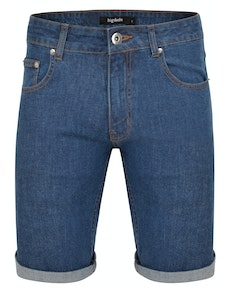 Bigdude Stretch Denim Shorts Mid Wash
