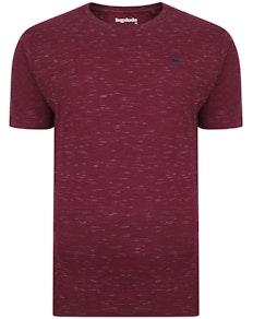 Bigdude Inkjet Marl T-Shirt Burgundy