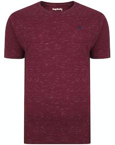 Bigdude Inkjet Marl T-Shirt Burgundy Tall