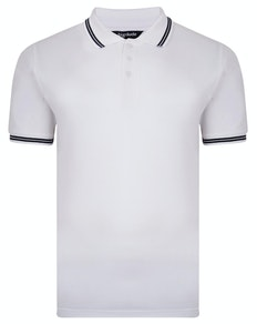 Bigdude Tipped Pique Polo Shirt White