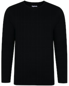 Bigdude Long Sleeve T-Shirt Black Tall