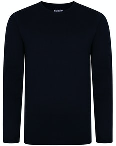 Bigdude Long Sleeve T-Shirt Navy Tall