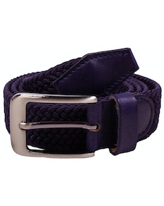Robbie Stretch Braided Belt Navy