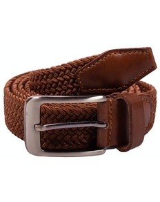 Robbie Stretch Braided Belt Brown