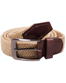 Robbie Stretch Braided Belt Cream
