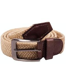 Robbie Stretch Braided Belt Cream