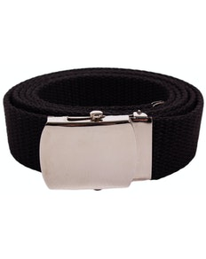 Eddie Woven Canvas Belt Black