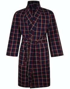 Bigdude Woven Check Dressing Gown Pepper Red