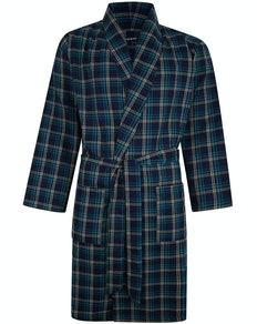 Bigdude Woven Check Dressing Gown Deep Green
